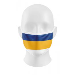 """FCC-Maske """"Blau-Gelb-Weiß"""""""