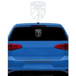 Autoaufkleber Logo silber, groß