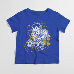 """Kindershirt """"Fußballer"""" - Blau"""
