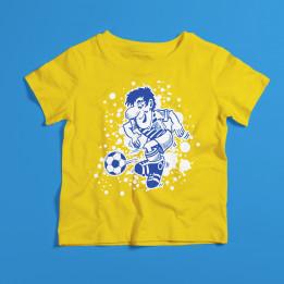 "Kindershirt ""Fußballer"" Gelb"