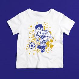 """Kindershirt """"Fußballer"""" Weiß"""
