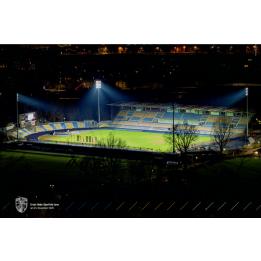 "Poster ""Stadonabschied bei Nacht"""